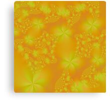 Orange and Yellow Abstract Flowers Canvas Print