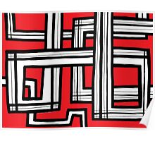 Messerli Abstract Expression Red White Black Poster