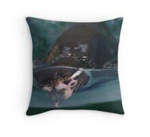 Underwater penguin Throw Pillow