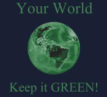 A Green World Kids Tee