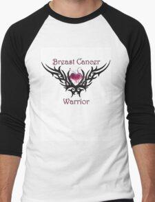 Breast Cancer Warrior Men's Baseball ¾ T-Shirt