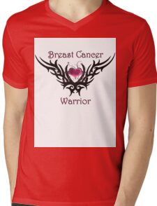 Breast Cancer Warrior Mens V-Neck T-Shirt