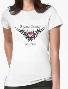 Breast Cancer Warrior Womens Fitted T-Shirt