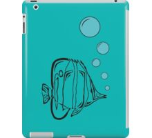 African butterflyfish is bubbling iPad Case/Skin