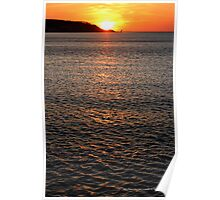 Long Island Sound Sunset | Miller Place, New York  Poster