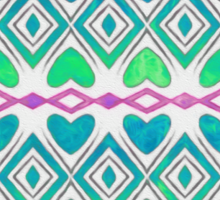 Blue and Green Hearts Sticker