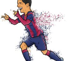 Luis Suarez by Marcus Lane illustration