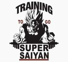Training to go Super Saiyan Kids Tee