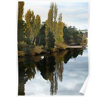 Tasmania Autumn Afternoon Derwent river Poster