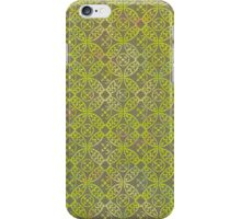 Garden Charm IV: Shabby Green Geometric Print and Dragonfly iPhone Case/Skin