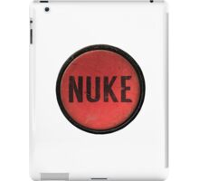 Red Nuke Button iPad Case/Skin