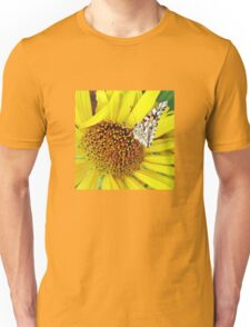 Butterfly on Yellow Unisex T-Shirt