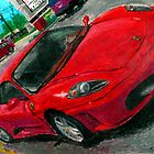 An oil pastel drawing of a Ferrari F430. by SteveBrandon