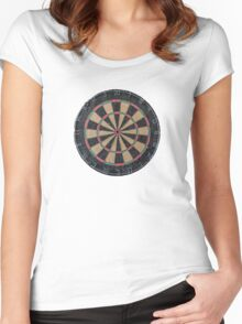 Isolated Dart Board Women's Fitted Scoop T-Shirt