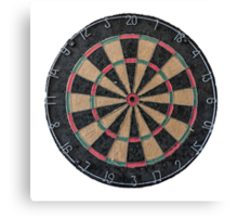 Isolated Dart Board Canvas Print