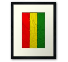 Rasta Flag Framed Print