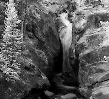 Waterfall (infrared) by Vicky Hamilton