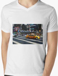 new york street Mens V-Neck T-Shirt