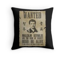 Wanted Captain  Throw Pillow
