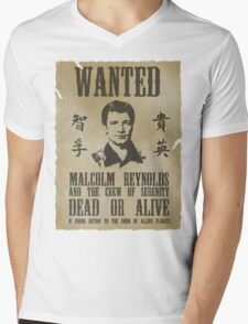 Wanted Captain  Mens V-Neck T-Shirt