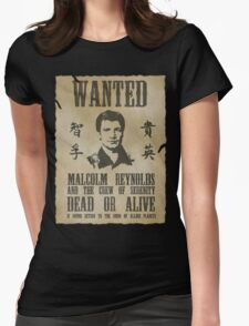 Wanted Captain  Womens Fitted T-Shirt