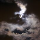 Lady Moon in a windy cloudy night by sstarlightss