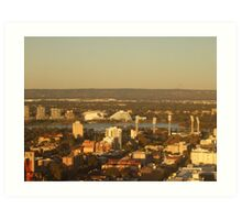 East Perth - Burswood. St Martins Tower. Perth. Art Print