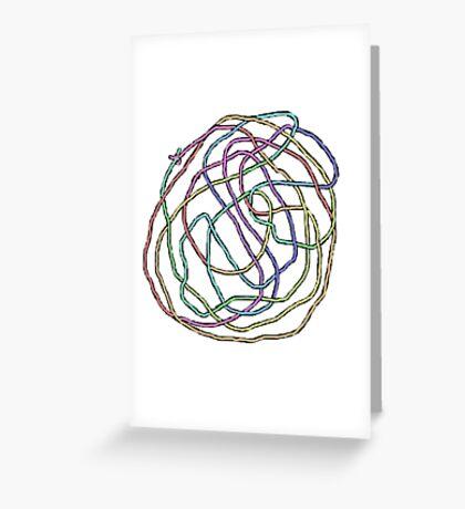 Rainbow Yarn Tangle Greeting Card