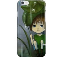 Waiting for the rain to pass iPhone Case/Skin