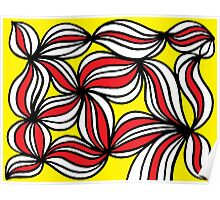 Etter Abstract Expression Yellow Red Black Poster