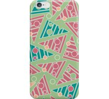 Pattern with colored triangles iPhone Case/Skin