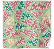 Pattern with colored triangles Poster
