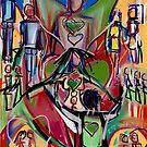 The dance of heart chakra by Anthea  Slade