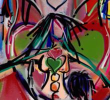The dance of heart chakra Sticker