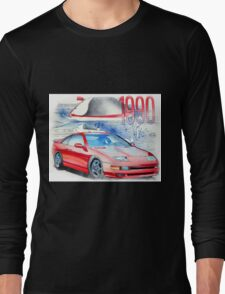 Nissan 300zx Classic Car Illustration Long Sleeve T-Shirt