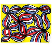Gazitano Abstract Expression Yellow Red Blue Poster