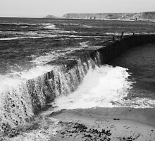 Harbour Wall Mono, Sennen, Cornwall by Mark Haynes Photography