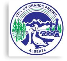 Seal of Grande Prairie Canvas Print
