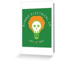 Blanka Electrical Co. Greeting Card