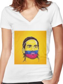 Falcao Colombia Women's Fitted V-Neck T-Shirt