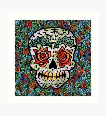 'Sweet Sugar Skull #1 Art Print