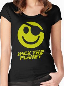 Hack the Planet!!! Women's Fitted Scoop T-Shirt