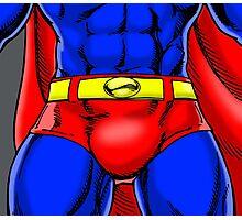 Superman Groin Photographic Print
