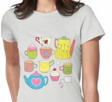 Teapots, cupcakes & more Womens Fitted T-Shirt
