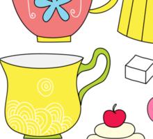 Teapots, cupcakes & more Sticker
