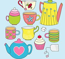 Teapots, cupcakes & more by Stephanie Komen