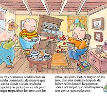 3 little pigs, classic tale by enriquevignolo