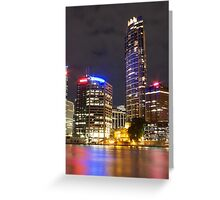 Brisbane CBD from Kangaroo Point 6 Greeting Card