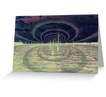 space ripple Greeting Card