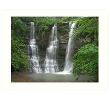 Twin Falls With an Added Touch, Arkansas Buffalo Wilderness Area Art Print